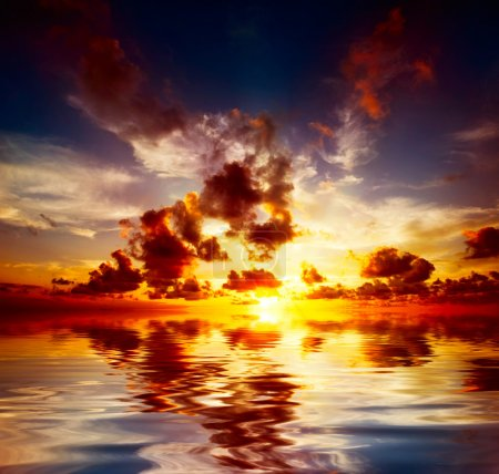 Photo for Caribbean Sunset - Royalty Free Image
