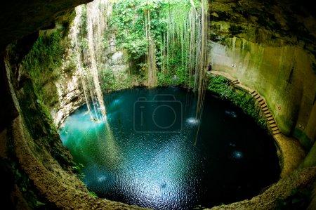 Photo pour IK-kil cenote, chichen itza, Mexique - image libre de droit