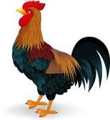 Vector illustration of Rooster cartoon