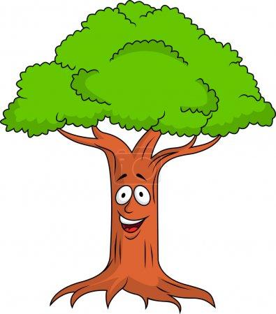 Illustration pour Illustration vectorielle du personnage de dessin animé Tree - image libre de droit