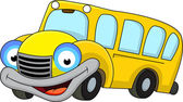 Vector Illustration of School bus cartoon