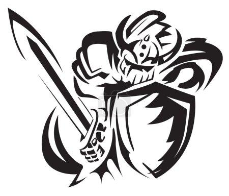 Illustration pour Cavalier chevalier - image libre de droit