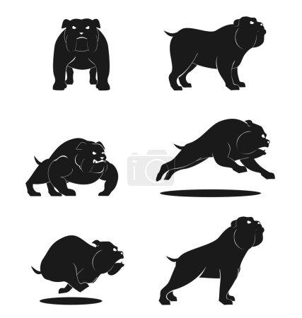 Illustration for Bull Dog Set - Royalty Free Image