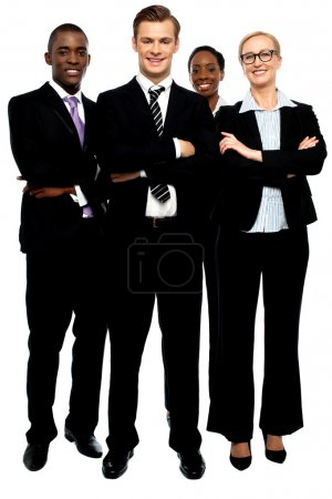 Group of business , arms crossed