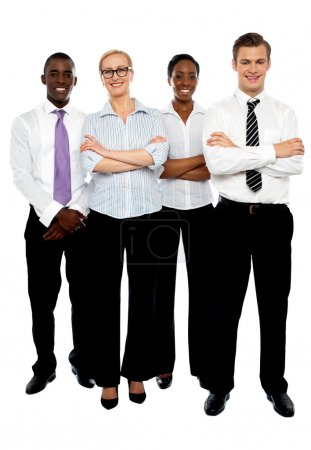 Young attractive business . Arms folded