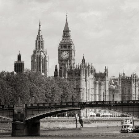 London skyline, Westminster Palace, Big Ben and Victoria Tower