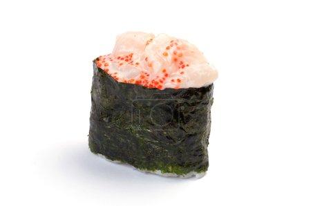 Photo pour Sushi gunkan. Felix hotate. pétoncle. - image libre de droit