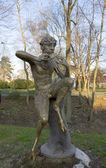 Sculpture of faun