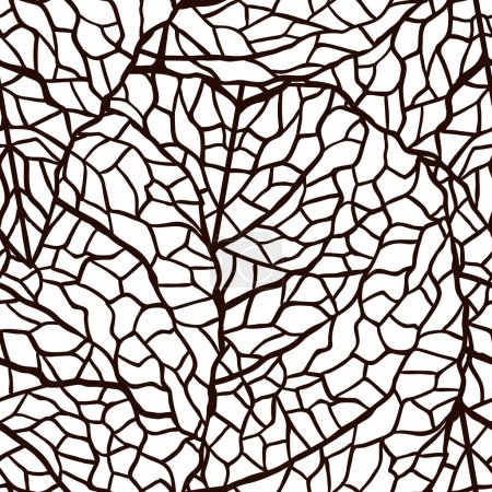 Illustration for Vector illustration of leaves. (Seamless stylish pattern) - Royalty Free Image