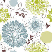 Vector background with hand drawn flowers (Seamless Pattern)