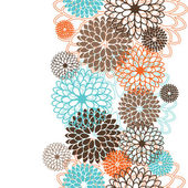 Seamless pattern with abstract flowers Vector illustration