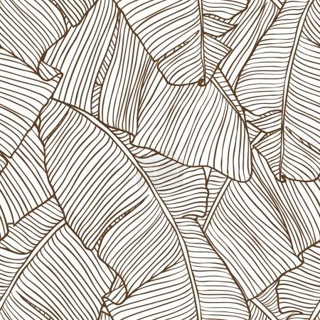 Ilustración de Vector ilustración hojas de palmera. patrón sin costuras. - Imagen libre de derechos