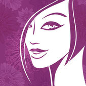 Abstract girl portrait Beautiful woman vector silhouette
