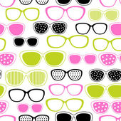 Glasses and sunglasses seamless pattern Vector texture