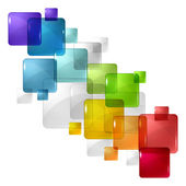 Abstract background with transparent colored squares Eps 10