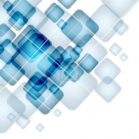 Illustration pour Abstrait avec des carrés transparents. EPS 10. - image libre de droit