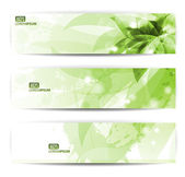 Set of three banners abstract headers with blots