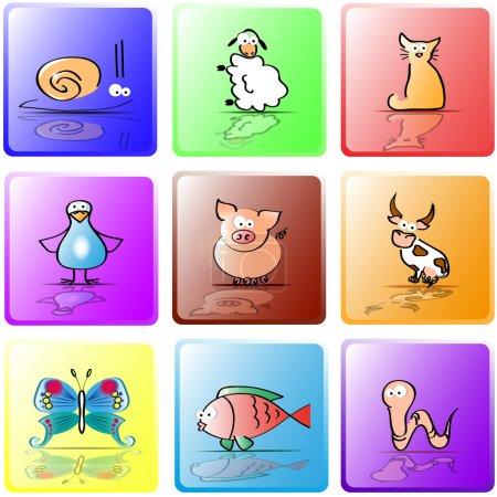 Colored animals