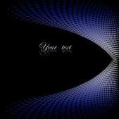 Abstraktní černá a modrá rám s místem pro text
