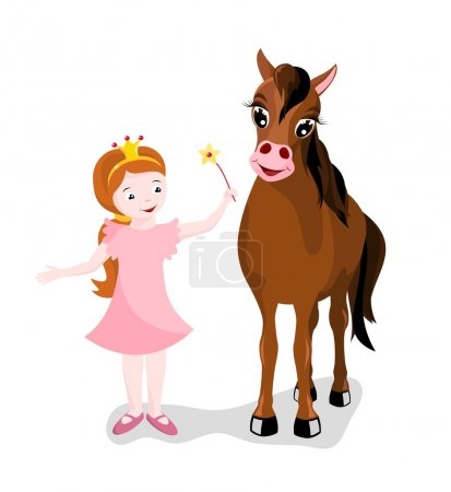 Little princess with her horse