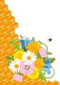 Květiny a plástev