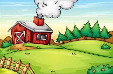 Illustration for Illustration of an empty farm - Royalty Free Image