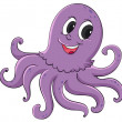 Purple octopus on a white background...