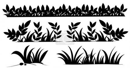 Illustration for Illustration of grass silhouettes - Royalty Free Image