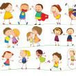 Illustration of simple kids playing...