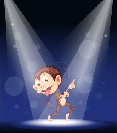 Illustration of a monkey on stage...