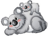 Illustration of a koala bear on a white backgroundbackground