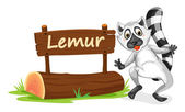 lemur and name plate