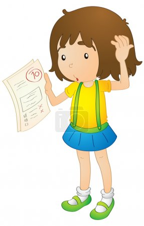 Illustration for Illustration of a girl on a white background - Royalty Free Image