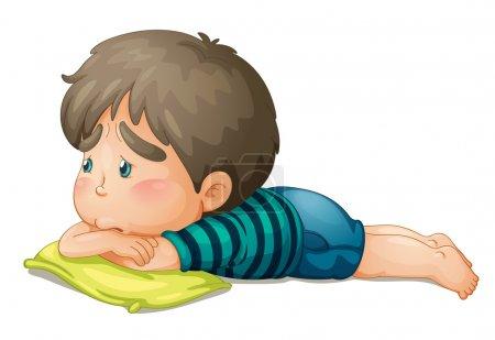 Illustration pour Illustration d'un garçon sur fond blanc - image libre de droit