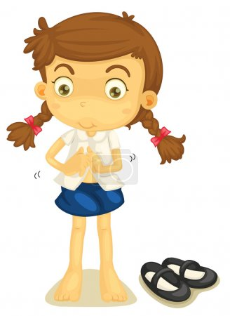 a girl in school uniform