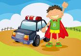 Chlapec a auto