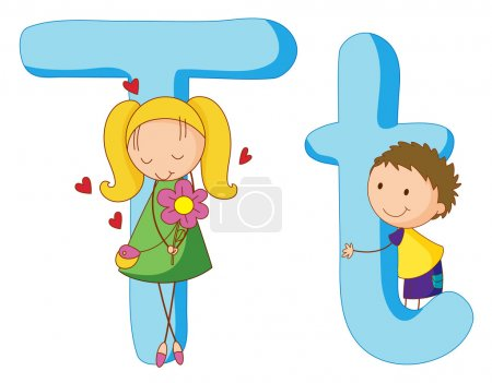 Kids in the letters series