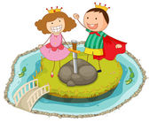 kids playing on island