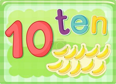 Number card 10