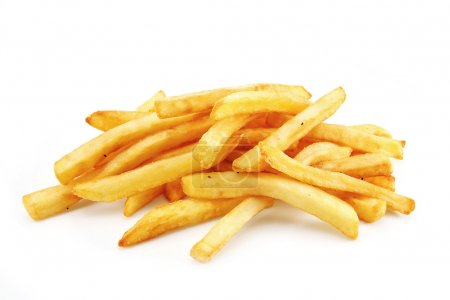 Photo for French Fries or Chips originally called pommes frites and more recently named freedom fries in america - Royalty Free Image