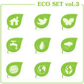 Vector ecology icon set Vol 3
