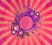 Grunge květinový rámeček