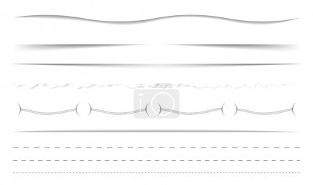 Illustration for Vector horizontal dividers set - Royalty Free Image