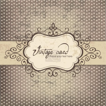 Illustration for Luxury vintage frame template 03 - Royalty Free Image