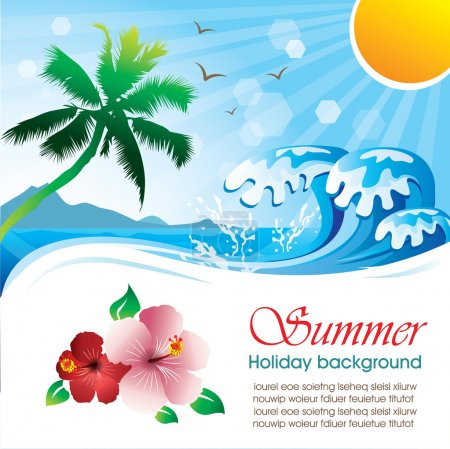Summer holiday vector design 01