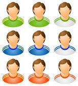 Sport human icons set