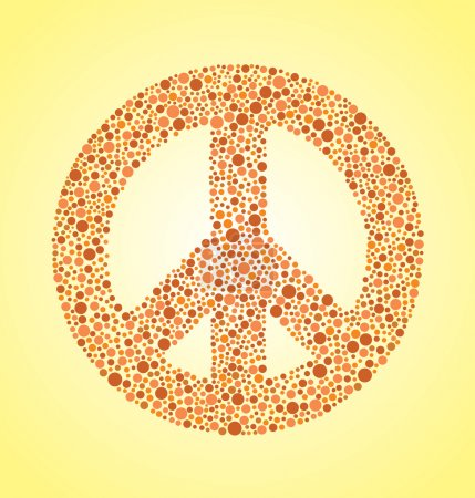 Peace Sign With Color Blind Effect