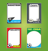 Soccer Futbol Trading Card Picture Frames