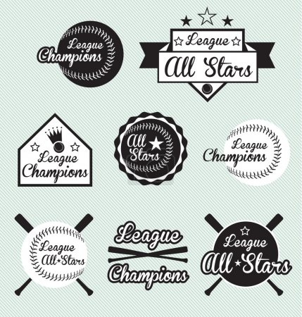 Vector Set of All Star and League Champions Labels