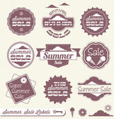Vector Set: Summer Season Sale